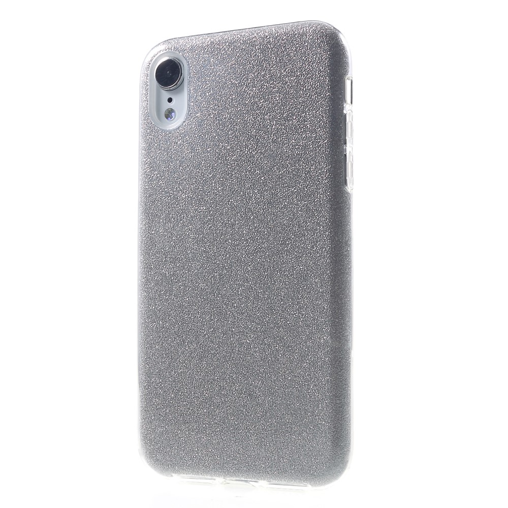coque iphone xr paillette or
