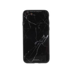COQUE IPHONE SE 2020 VERRE TREMPE MARBRE NOIR