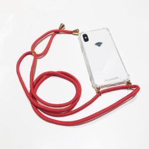 COQUE IPHONE XS MAX BANDOULIERE ORANGE