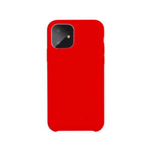 COQUE IPHONE 11 SILICONE COLOR ROUGE