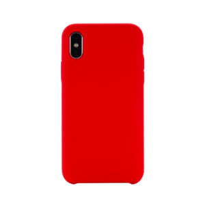 COQUE IPHONE XS MAX SILICONE COLOR ROUGE
