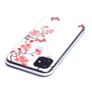 Coque iPhone 11 fleurs roses