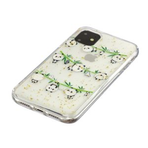 Coque iPhone 11 Bambou Panda & Or