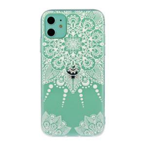 Coque iPhone 11 cachemire vert