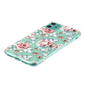 Coque iPhone 11 translucide Roses fleurs