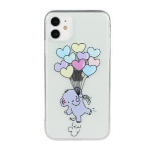 Coque iPhone 11 translucide Eléphant Coeurs