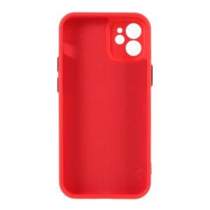 Coque iPhone 12 Mini silicone Rouge