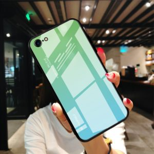 COQUE IPHONE SE 2020 HYBRIDE VERRE TREMPE DEGRADE VERT