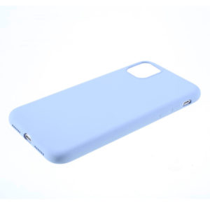 COQUE IPHONE 12 SILICONE COLOR BLEU LILAS