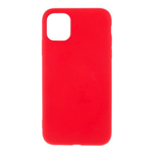 COQUE IPHONE 12 SILICONE COLOR ROUGE