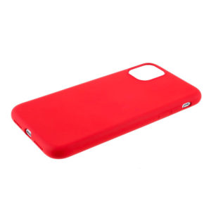 COQUE IPHONE 12 PRO SILICONE COLOR ROUGE