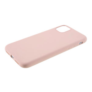COQUE IPHONE 12 SILICONE COLOR ROSE PALE
