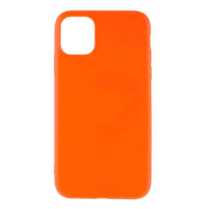 COQUE IPHONE 12 SILICONE COLOR ORANGE